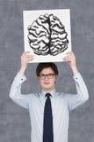 Zeichnungsgehirn Lizenzfreies Stockbild