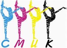 Zeichnungsidentität des Vektors CMYK Stockfotos