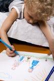 Zeichnungsjunge Stockfotografie