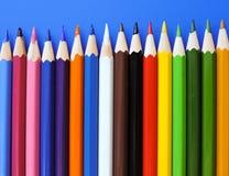 Zeichnungslektionen in der Schule des Kunstbürosatzes Stockbild