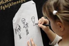 Zeichnungsmädchen Stockbilder