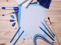 Zeichnungsmaterialien Stockbilder