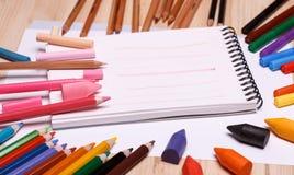 Zeichnungsmaterialien Lizenzfreie Stockbilder