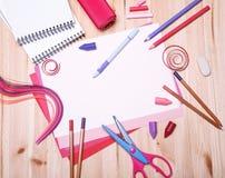 Zeichnungsmaterialien Lizenzfreies Stockfoto