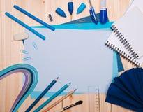 Zeichnungsmaterialien Stockfotos