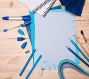 Zeichnungsmaterialien Lizenzfreies Stockbild