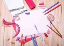 Zeichnungsmaterialien Lizenzfreie Stockfotografie