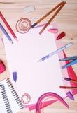 Zeichnungsmaterialien Lizenzfreie Stockfotos