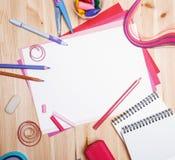 Zeichnungsmaterialien Stockbild