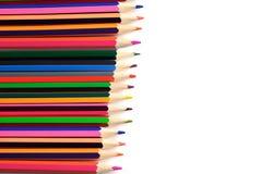 Zeichnungsmaterialien: Bleistifte von verschiedenen Farben Stockbild
