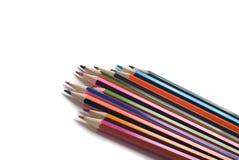 Zeichnungsmaterialien: Bleistifte von verschiedenen Farben Lizenzfreie Stockbilder