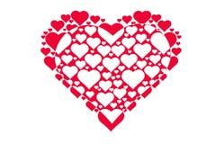 Zeichnungsmuster von Herzen, Symbol der Liebe, Valentinsgruß ` s Tag Stockfoto