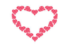 Zeichnungsmuster von Herzen, Symbol der Liebe, Valentinsgruß ` s Tag Stockfotos