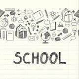 Zeichnungsschuleinzelteile Stockfotografie