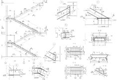 Zeichnungstreppe, uzi Abschnitt lizenzfreies stockbild