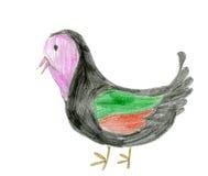 Zeichnungsvögel der Kinder Lizenzfreie Stockfotos