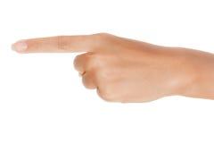 Zeigefinger Stockbild
