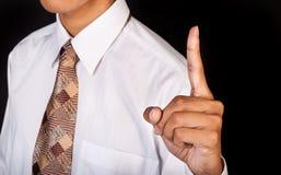 Zeigefinger oben Stockfotos