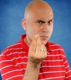 Zeigen der Finger Stockfotografie
