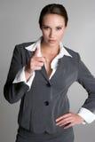 Zeigen der Geschäftsfrau Lizenzfreies Stockfoto