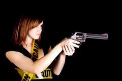 Zeigen der Gewehr Lizenzfreie Stockbilder