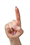 Zeigen der Hand Lizenzfreies Stockfoto
