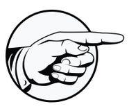 Zeigen der Hand Stockfotografie