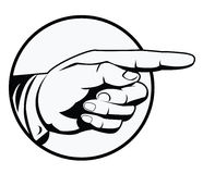 Zeigen der Hand stock abbildung