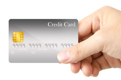 Zeigen der Kreditkarte Lizenzfreie Stockbilder