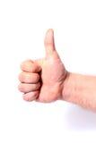 Zeigen des Fingergestemakroschusses Stockbilder
