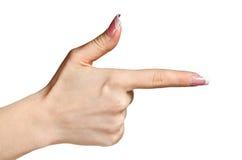 Zeigen des Fingers Lizenzfreie Stockfotos