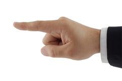Zeigen des Fingers Stockbild