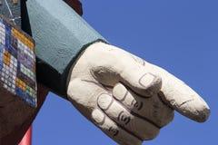 Zeigen des Fingers Lizenzfreie Stockfotografie