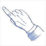 Zeigen des Fingers Stockfotografie