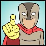 Zeigen des Superhelden Lizenzfreie Stockfotos