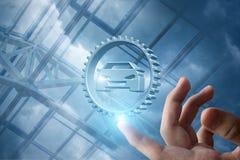 Zeigen Sie das Symbol der Autoreparatur Stockfoto
