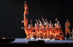 Zeigen Sie die mystischen Befugnisse der Shaolin-Mönche von China Stockfoto