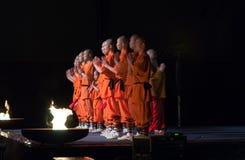 Zeigen Sie die mystischen Befugnisse der Shaolin-Mönche von China Stockbild
