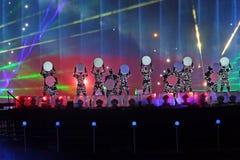 Zeigen Sie Kreis des Lichtes in Moskau Stockfotos