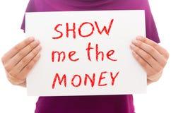Zeigen Sie mir das Geld Lizenzfreies Stockfoto