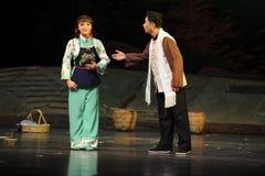 Zeigen Sie offenbar irgendjemandes Verstand - Jiangxi-Oper eine Laufgewichtswaage Stockbilder
