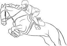 Zeigen Sie springenden Pferden-Vektor Stockfotografie