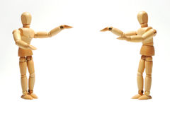 Zeigen Sie Vorführern Holz-Marionetten Lizenzfreies Stockfoto
