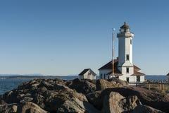 Zeigen Sie Wilson-Leuchtturm Stockbild