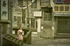 Zeigen in verlassenen Filmstandorten Lizenzfreie Stockfotos
