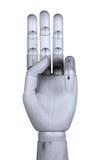 Zeigen von drei Fingern Stockfoto