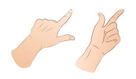 Zeigen von Händen Stockbild