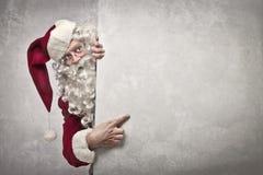 Zeigen von Weihnachtsmann Lizenzfreies Stockbild
