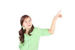 Zeigendes Mädchen Lizenzfreie Stockfotos