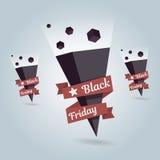 Zeiger-Black Friday-Ikone Standortsymbol Lizenzfreie Stockfotos